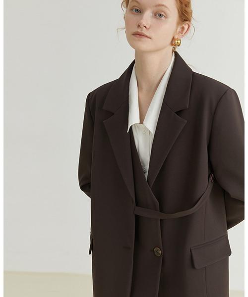 【Fano Studios】【2021AW】Asymmetry buttoned blazer FQ21W059