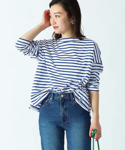 【WEB限定】ORCIVAL/オーシバル 40/2 STRIPE BIG T-SHIRT/ストライプ ビッグ Tシャツ