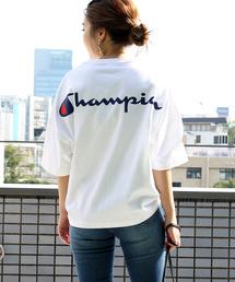FREAK'S STORE(フリークスストア)の【WEB限定】Champion×FREAK'S STORE/チャンピオン 別注 ウルトラビッグ バックプリントロゴTシャツ(Tシャツ/カットソー)