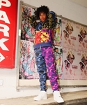 MIX CAMO CRAZY SHARK FULL ZIP HOODIE M(パーカー)