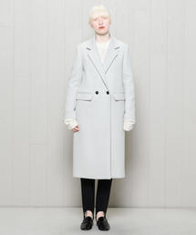 <H>SOFT MELTON CHESTER COAT/コート