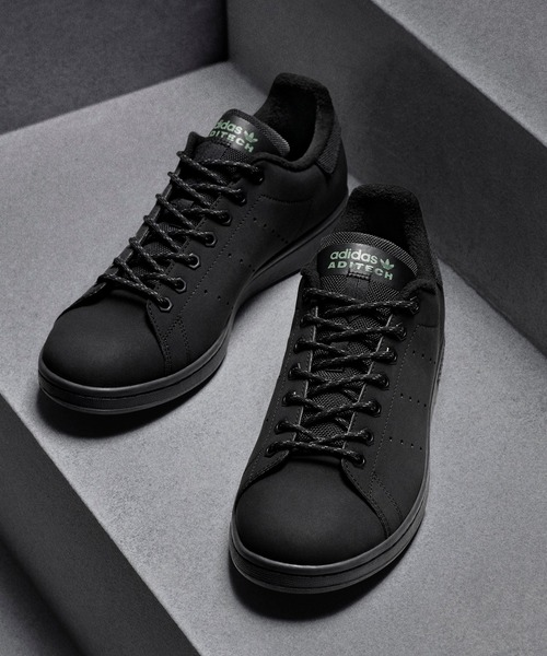 adidas(アディダス)の「スタンスミス [STAN SMITH] アディダスオリジナルス(スニーカー)」|ブラック×ブラック