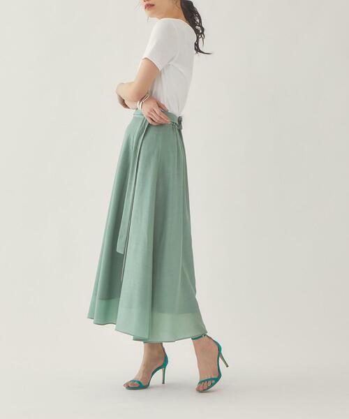 【EMMEL REFINES】EM ラップライク カラーフレア スカート