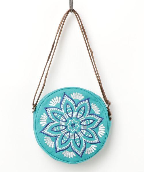 【チャイハネ】曼荼羅刺繍サークルバッグ ラウンドポシェット