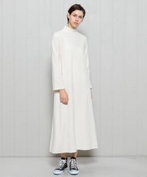 <H>HIGH NECK MAXI ONE PIECE/ワンピース