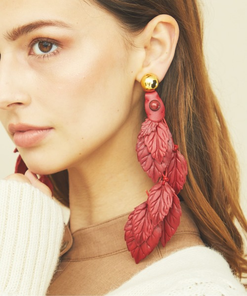 55%以上節約 【The Dallas リーフ】leather leaf earring// レザー リーフ イヤリング Dallas】leather (No.51)/ 結婚式 小物におすすめ/ イヤーカフ(イヤリング(両耳用))|THE Dallas(ザ・ダラス)のファッション通販, ヤオシ:d9478a2f --- vinylcowindows.com