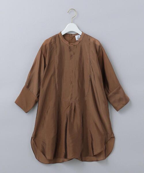 <6(ROKU)>CUPRA DRESS SHIRT/シャツ