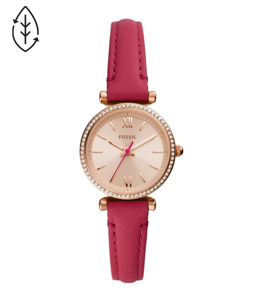 FOSSIL(フォッシル)の「CARLIE MINI ES5006(アナログ腕時計)」|ピンク