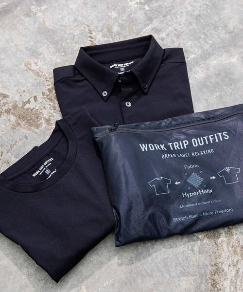 < 機能 / ストレッチ > WTO ポロシャツ & Tシャツ & ポーチ 3点セット
