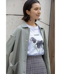 【WEB限定】<info. BEAUTY&YOUTH> ドッグ プリント カットソー