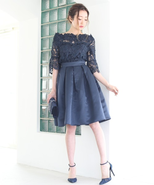 人気が高い レース セットアップ スカート ドレス【2点セット】結婚式 フォーマル パーティードレス, 宇和島真珠 おおはし e8fbc97f