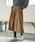 AMERICAN HOLIC(アメリカンホリック)の「・ウエストリボン裾フレアスカート(スカート)」 ブラウン