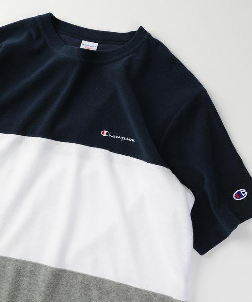 ▽Champion×FREAK'S STORE/チャンピオン NEWパイルカラーブロックTシャツ