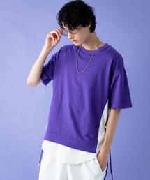 1a806d6fd317e Herden(ハーデン)の「Herden サイド切替ストリングTシャツ(Tシャツ/
