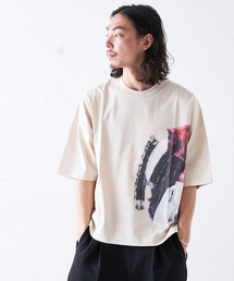 Lui's(ルイス)のはけプリント ビッグシルエットTシャツ(Tシャツ/カットソー)