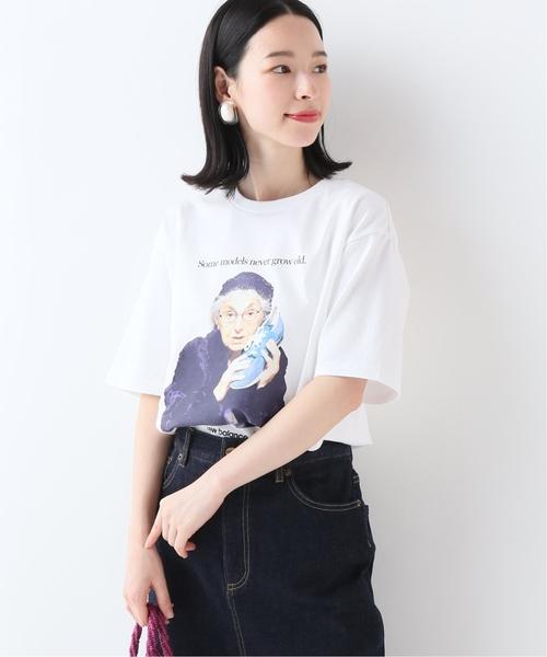SLOBE IENA(スローブイエナ)の「NEW BALANCE NB モデルTシャツ(Tシャツ/カットソー)」|ホワイト