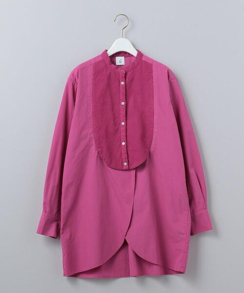 <6(ROKU)>BOTANICAL DYE DRESS SHIRT/シャツ