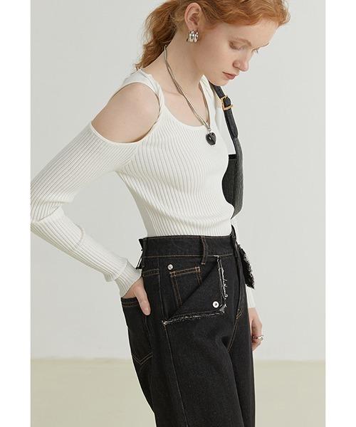【Fano Studios】【2021AW】Twist open shoulder knit FQ21S067