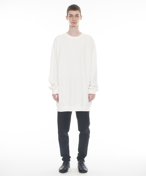 Logo Text Oversized Sweater