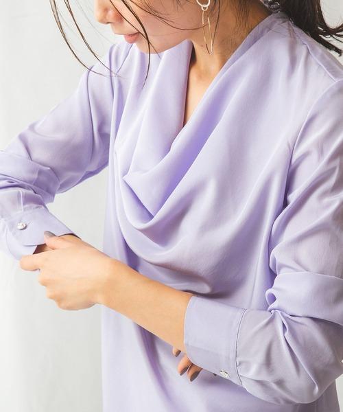 柔らかい 【セール】ファインラスターサテンドレープブラウス(シャツ/ブラウス)|NARACAMICIE(ナラカミーチェ)のファッション通販, APWORLD:e99e03db --- 5613dcaibao.eu.org
