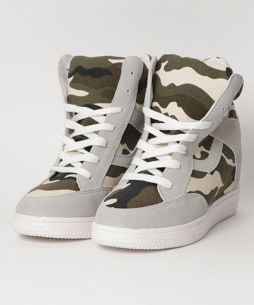 High-Cut Camouflage Sneaker / ハイカット 迷彩柄 スニーカー