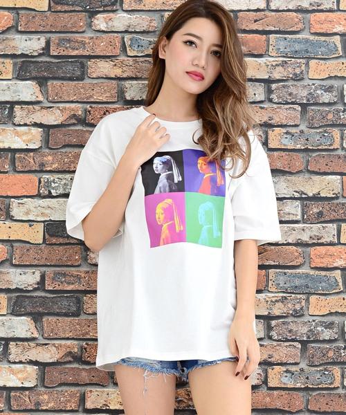 4連転写フォトBIG半袖Tシャツ