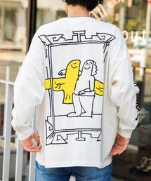【BASQUE -enthusiastic design-】Mark Gonzales/マークゴンザレス BASQUE magenta別注 スーパービッグシルエット 長袖Tee(背面プリント)ホワイト系その他2