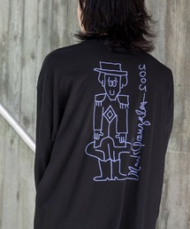【BASQUE -enthusiastic design-】Mark Gonzales/マークゴンザレス BASQUE magenta別注 スーパービッグシルエット 長袖Tee(背面プリント)ブラック系その他6