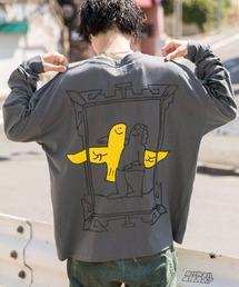 【BASQUE -enthusiastic design-】Mark Gonzales/マークゴンザレス BASQUE magenta別注 スーパービッグシルエット 長袖Tee(背面プリント)グレー系その他2