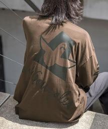 【BASQUE -enthusiastic design-】Mark Gonzales/マークゴンザレス BASQUE magenta別注 スーパービッグシルエット 長袖Tee(背面プリント)ブラウン系その他2