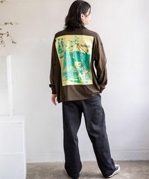 【BASQUE -enthusiastic design-】Mark Gonzales/マークゴンザレス BASQUE magenta別注 スーパービッグシルエット 長袖Tee(背面プリント)ブラウン系その他4