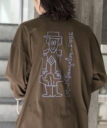【BASQUE -enthusiastic design-】Mark Gonzales/マークゴンザレス BASQUE magenta別注 スーパービッグシルエット 長袖Tee(背面プリント)ブラウン系その他6