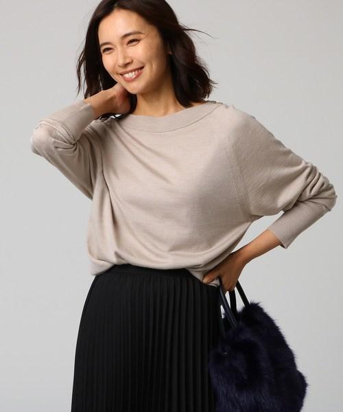 『2年保証』 [L]シルクウールカシミヤ肩ボタンニット(ニット/セーター)|UNTITLED(アンタイトル)のファッション通販, 花のようなケーキ:db8871cd --- 5613dcaibao.eu.org