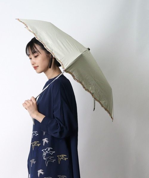 ピーナッツ晴雨兼用刺繍 折りたたみ傘 スヌーピー SNS OGW ・・  アンブレラ