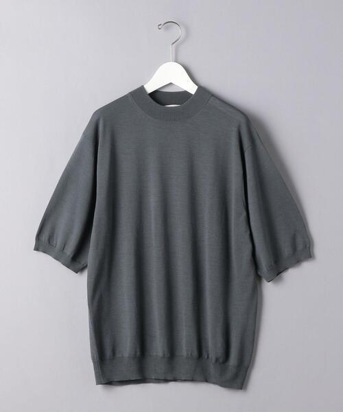 <UNITED ARROWS> モックネック ニット Tシャツ