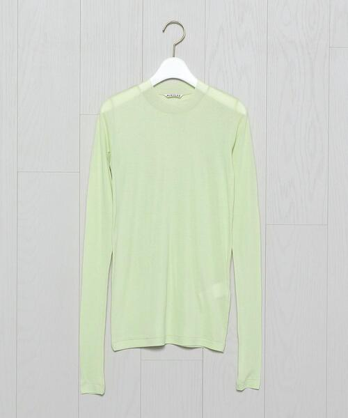 <AURALEE>SHEER LONG SLEEVE PULLOVER/カットソー.
