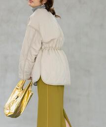 【WEB限定カラー(オフホワイト)】ドロストキルティングジャケット