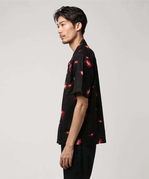 VANS ヴァンズ Splash Flying-V S/S Shirt VA18HS-MS01 BLACK