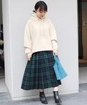 GLEN FYNE チェックキルトロングスカート◆(スカート)