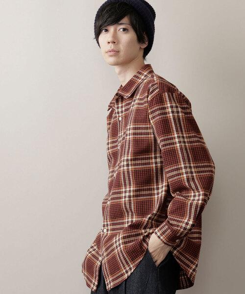 オーバーサイズチェックフランネルシャツ(MONO-MART) 2019AW