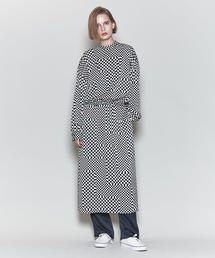 <6(ROKU)>CHECKERD DRESS/ワンピース