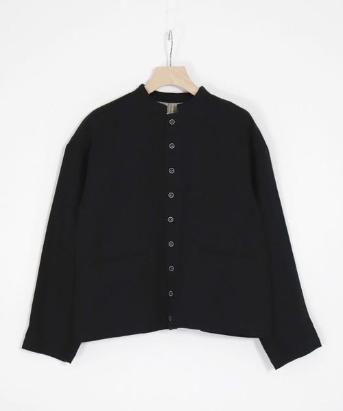 経典ブランド [Brocante/ ブロカント]/ 綿ウールリネンツイル クールブトンジャケット(ノーカラージャケット)|Brocante(ブロカント)のファッション通販, アライカメラ:5847b59f --- 5613dcaibao.eu.org