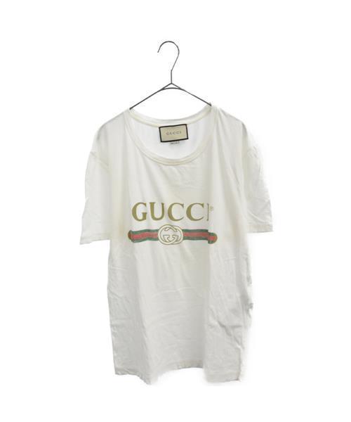 速くおよび自由な 【ブランド古着】オールドヴィンテージロゴ半袖Tシャツ(Tシャツ/カットソー)|GUCCI(グッチ)のファッション通販 - USED, 御菓子司大彌(だいや):6af7a051 --- dpu.kalbarprov.go.id