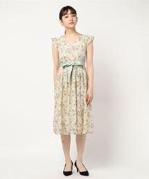 7b37354111eee JILLSTUART(Dress)(ドレス)の「◇ レーシーフラワーワンピース(ワンピース)