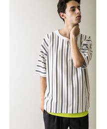 <monkey time> TJK MULTI STRIPE TEE/Tシャツ