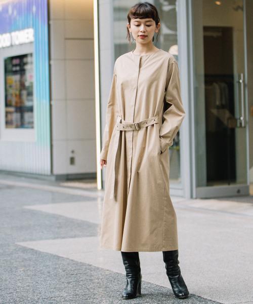 高い素材 コットンナイロンクロス ベルテッドワンピース(ワンピース)|Munich(ミューニック)のファッション通販, BestSelect HORIKOSHI:90cfe17e --- ascensoresdelsur.com