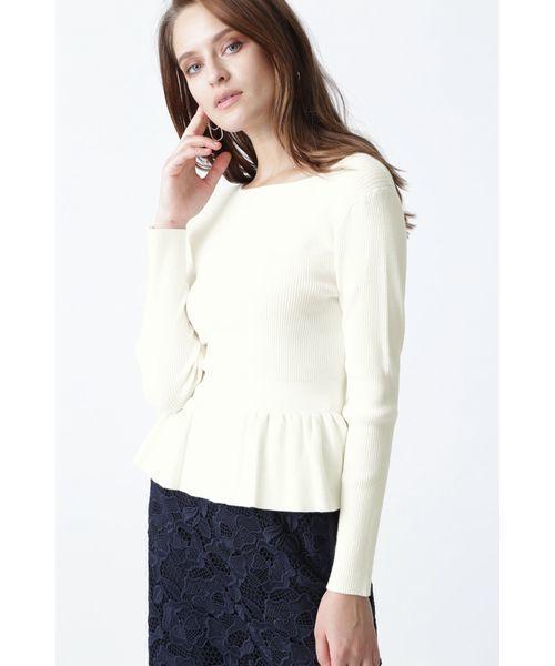 新しい ぺプラムRIBトップス(ニット/セーター)|PINKY&DIANNE(ピンキーアンドダイアン)のファッション通販, ヤマエムラ:b3bd243b --- 5613dcaibao.eu.org