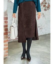 STYLE DELI(スタイルデリ)の裾デザインエコスエードスカート(スカート)