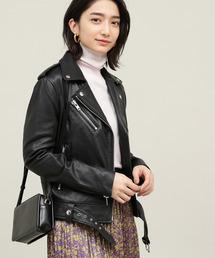 ADAM ET ROPE'(アダム エ ロペ)の【STAND】Lambskin leather Jacket(ライダースジャケット)