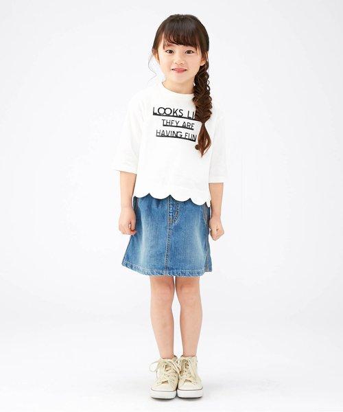 裾スカラップTシャツ
